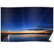 Crepuscular Rays - Como Jetty Western Australia  Poster