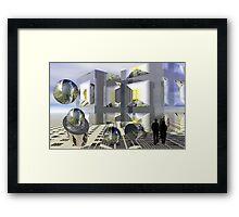 Sci-fi town Framed Print