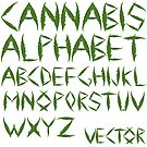 Cannabis leaf alphabet by robertosch