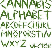 Cannabis leaf alphabet by Laschon Robert Paul