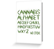 Cannabis leaf alphabet Greeting Card