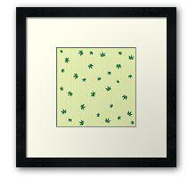 Cannabis rain Framed Print