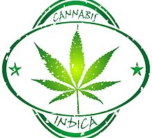 Cannabis stamp by Laschon Robert Paul