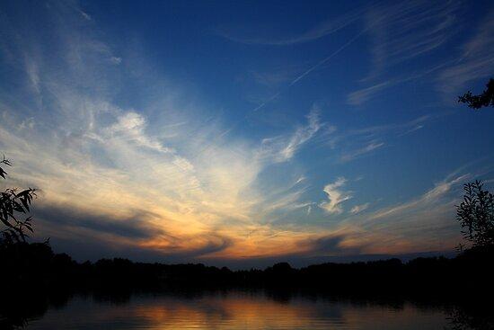Sunset Over Biker's Farm by Martin McKiernan