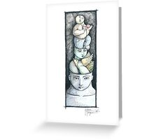 I AM AS BLUE AS BLUE CAN BE (study) Greeting Card