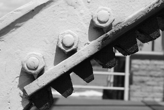 three white bolts by fabio piretti