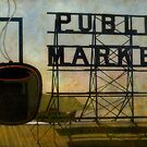 The Perfect View, Public Market, Seattle, WA by Elizabeth Bravo