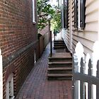 Colonial Williamsburg walkway by Timothy Gass