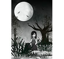 Mary Reaper in her garden Photographic Print