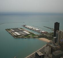 An aerial view of Chicago by Missy Yoder