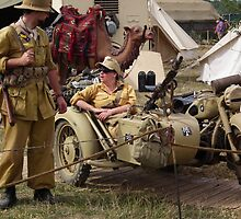 BMW Motorcycle with sidecar by Andy Jordan