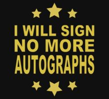 No More Autographs by jean-louis bouzou
