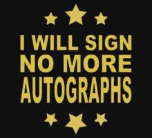 No More Autographs by jean-louis bouzou
