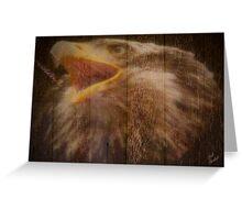 Eagle Fence Greeting Card
