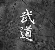 Budo (Martial Arts), Black and White Japanese Wall Art by soniei