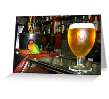 A cold beer, please Greeting Card