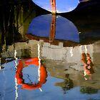 Boats Reflection by Karen  Betts
