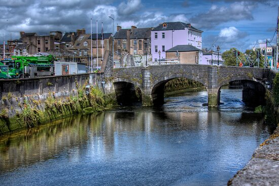 The Canal and a Bridge - Cork, Ireland by Mark Richards