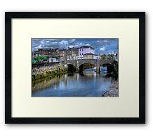 The Canal and a Bridge - Cork, Ireland Framed Print
