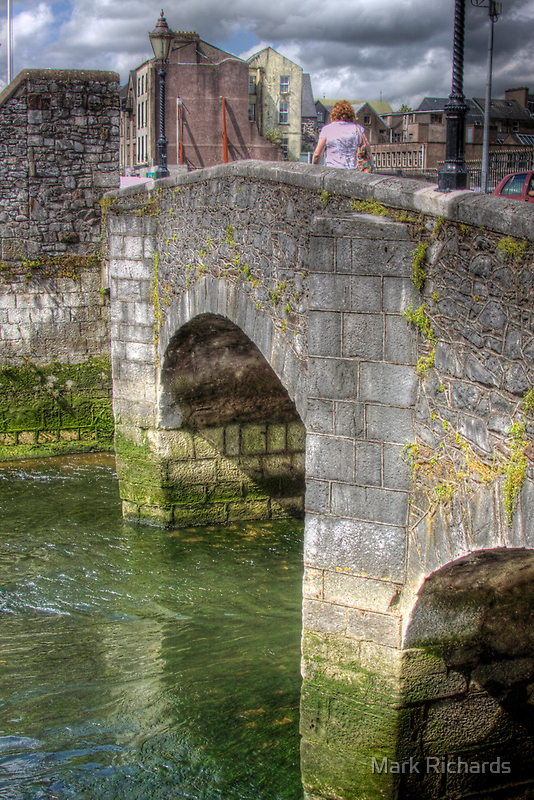 The Bridge - over one of the Canals in Cork, Ireland by Mark Richards
