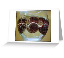 Cherry Bubbles II Greeting Card