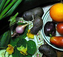 7/27/10 Home Garden Harvest by Carla Wick/Jandelle Petters