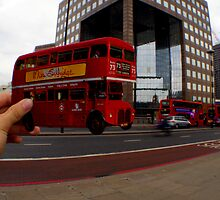 London Bus Cut Out  by Tom Bosley