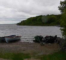 Boats on Lough Conn,Garrycloonagh,Co,Mayo,Ireland. by Pat Duggan