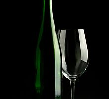 Bottle and Glass by psnoonan
