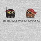 Ninjas vs Pirates by arginal