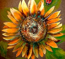 The Sunflower and The Ladybug by © Janis Zroback