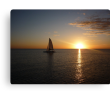 sunset over gulf of mexico Canvas Print
