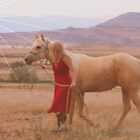 Beautiful Girl and Horse by Jessie Miller/Lehto