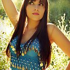 Belly Dancer Dancing in the Sun's Rays - Krista McCandless by Bumzigana