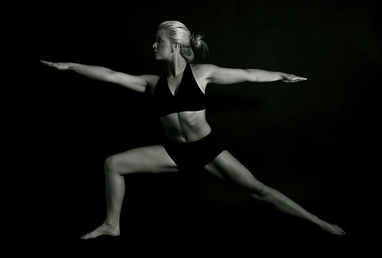 Warrior pose by Rob Emery