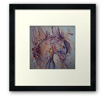 Her paint Framed Print