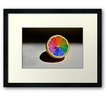 Lemon Colour Wheel Framed Print