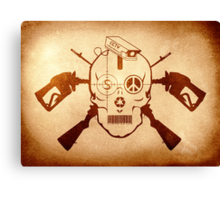 Doom Skull, Beware! Canvas Print