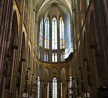 Cathedral in Cologne Germany - Interior by Richie Wessen