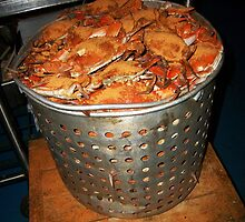 Big Pot of Hot Steamed Crabs by Paulette1021