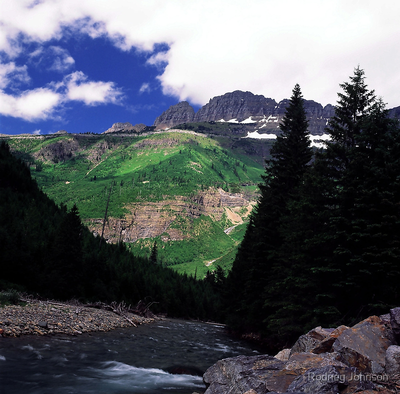 McDonald Creek, Going-to-the-Sun Road, Glacier N.P.  by Rodney Johnson