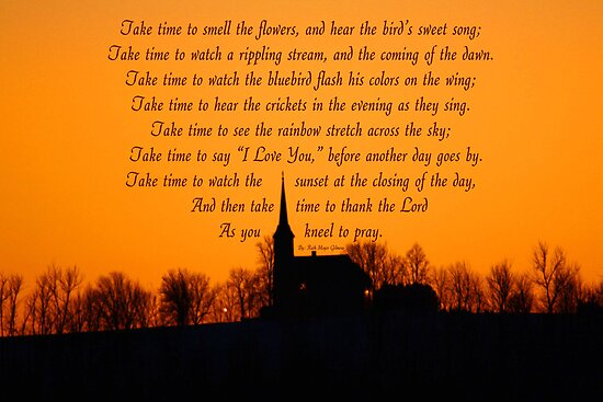 Church at Sundown - Poem  -  Take Time by KatsEye