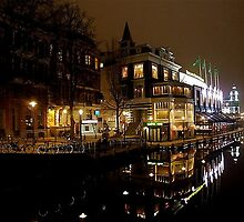 NIGHT REFLECTION AMSTERDAM by Scott  d'Almeida