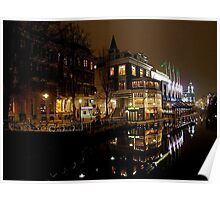 NIGHT REFLECTION AMSTERDAM Poster
