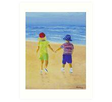 Walk on the Beach Art Print