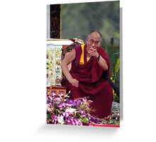 His Holiness the Dalai Lama - Washington D.C.  A.D.  2000 Greeting Card