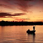 Evening Fisherman by Ann  Van Breemen