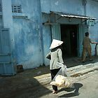 Phan Thiet - Blue house. by Jean-Luc Rollier