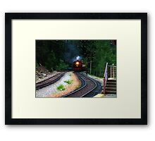 Comin' Round the Bend Framed Print