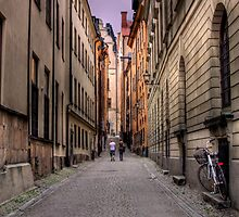 Alley Way - (The Old City) Stockholm, Sweden by Mark Richards